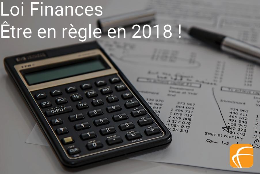 Logiciel de location de matériel et loi finance, ce qu'il faut savoir pour être en règle en 2018