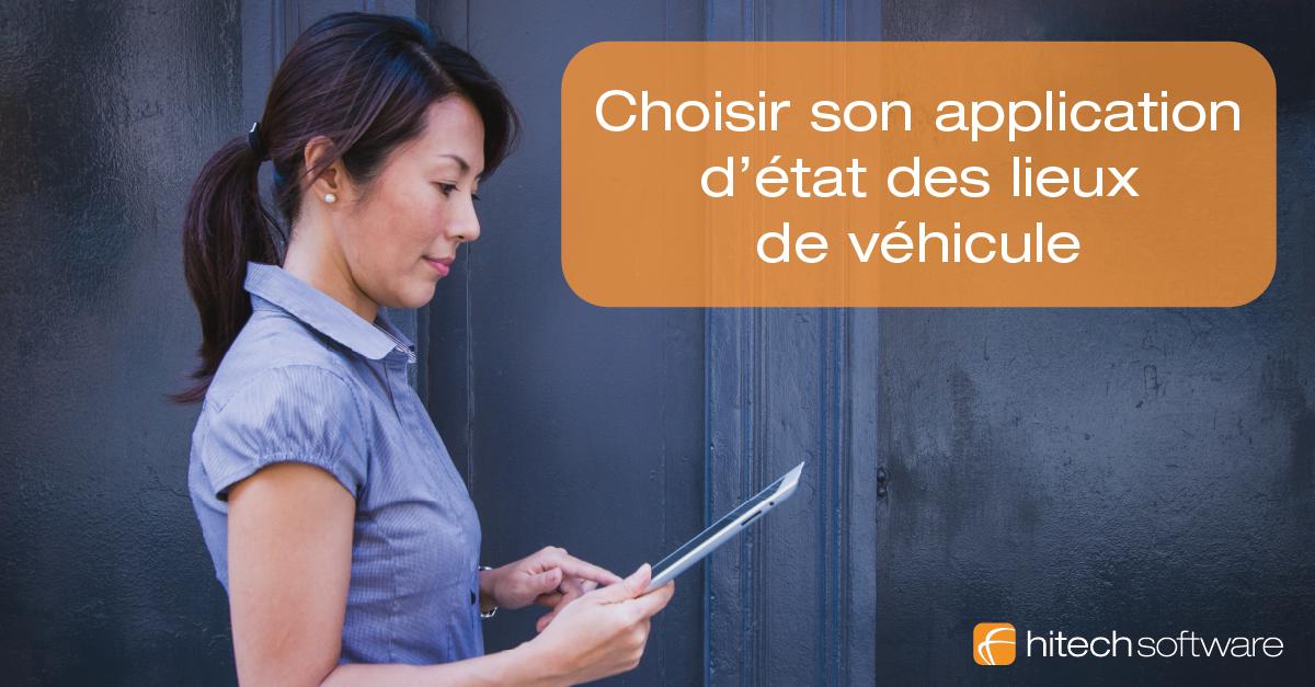 Choisir son application d'état des lieux de véhicule