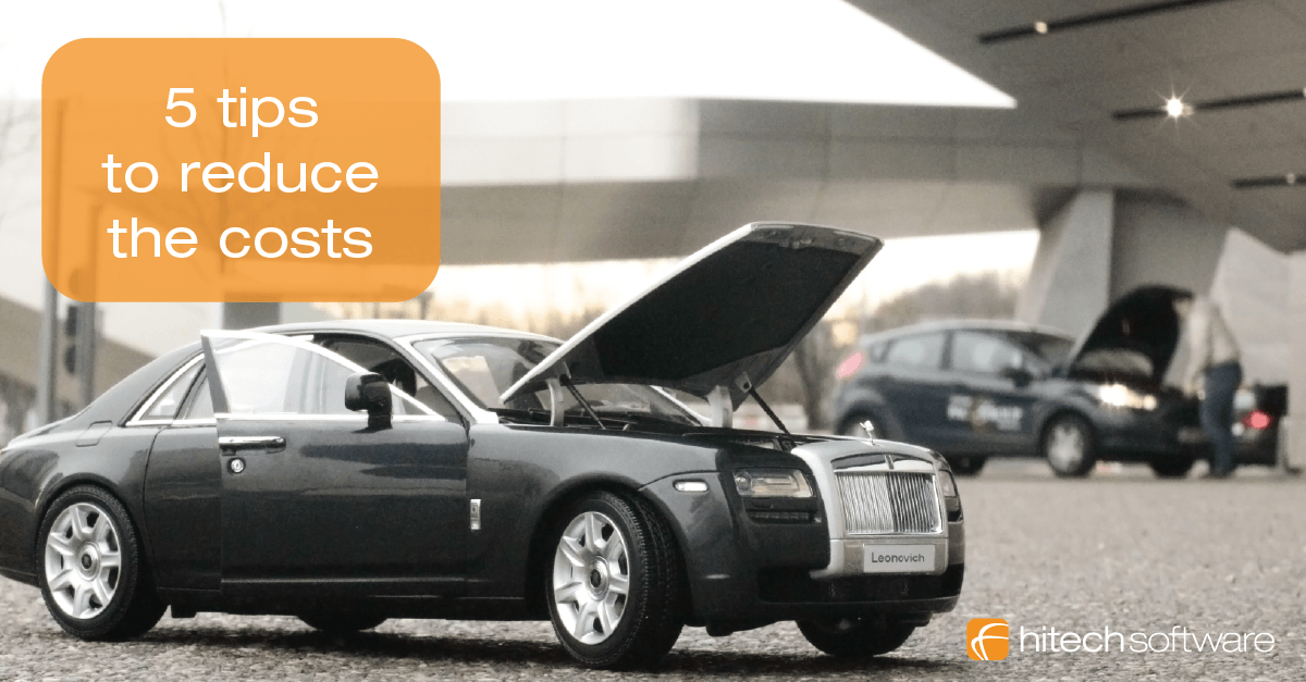 5 tips to reduce the costs of a car rental company