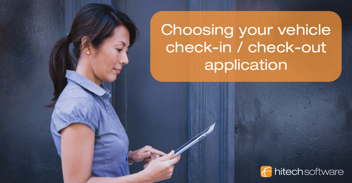 Choosing your car check-in  check-out application