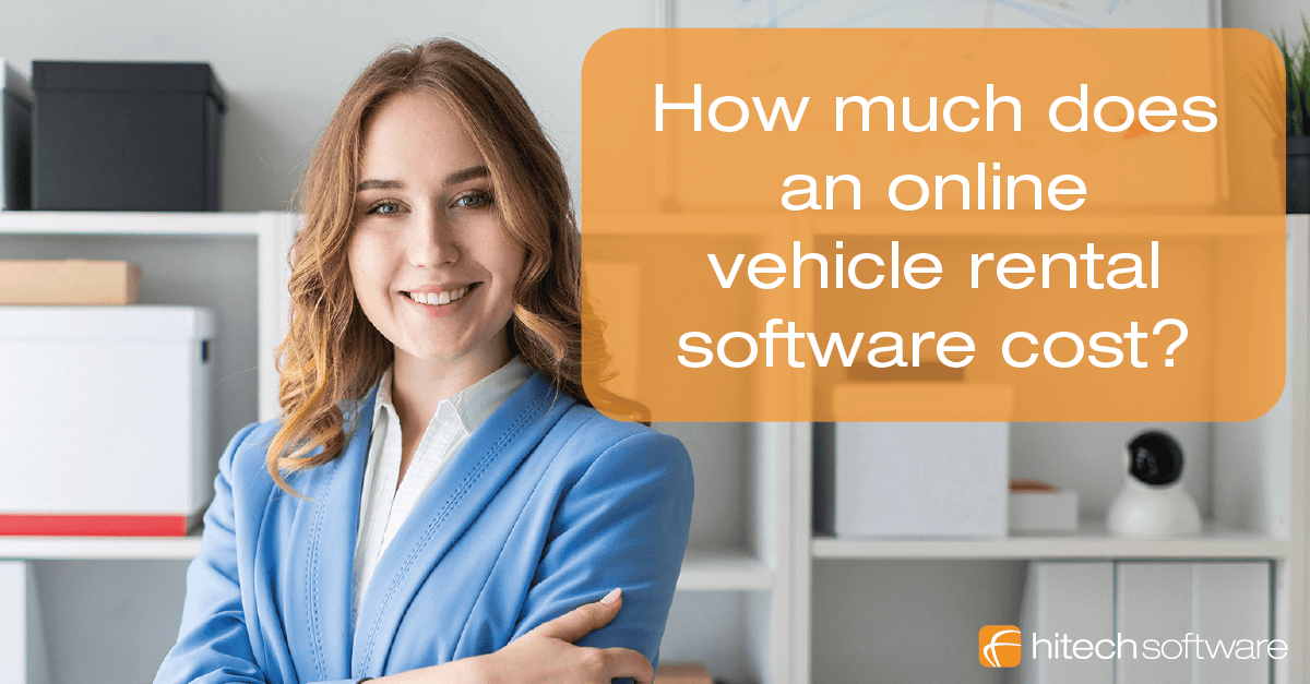 How much does an online car rental software cost?