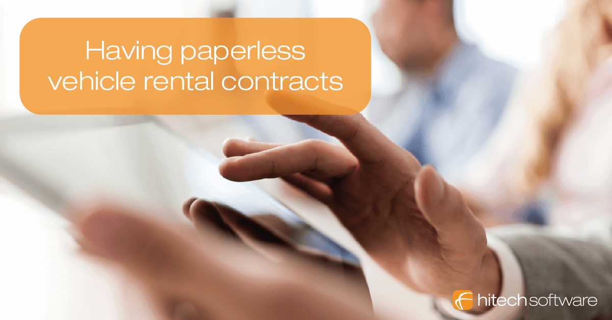 How to have paperless vehicle rental contracts?