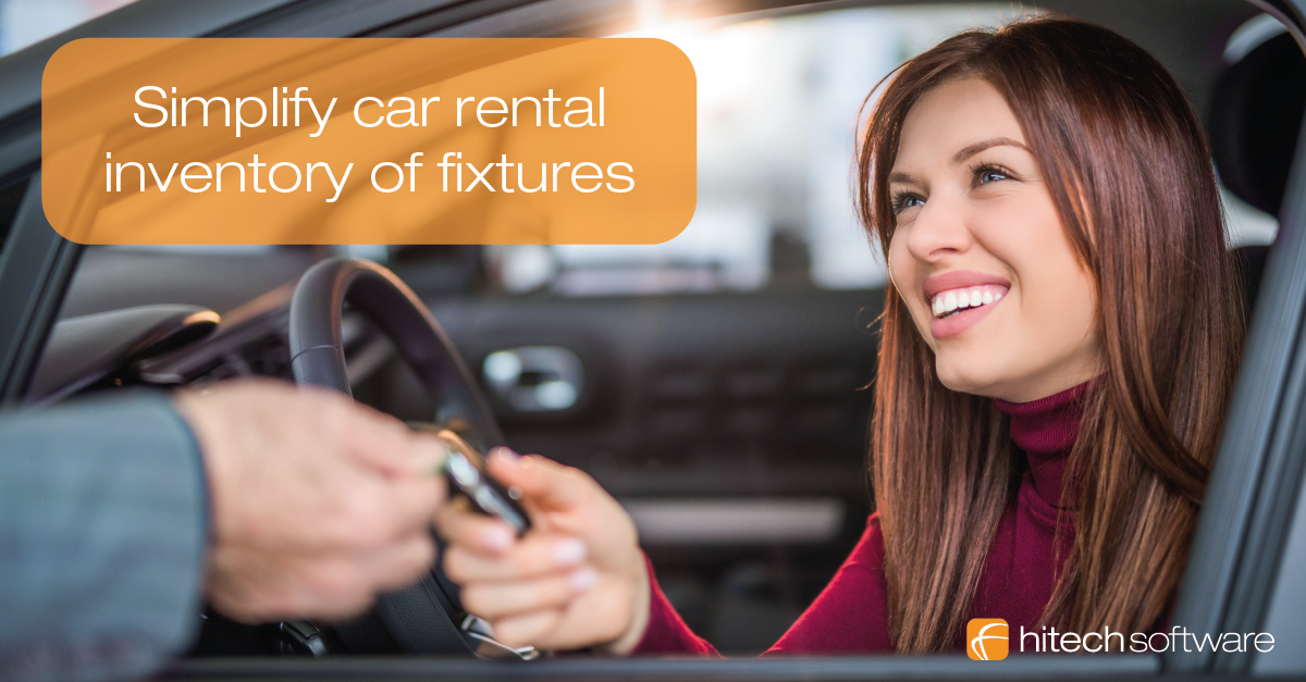 How to simplify car rental inventory of fixtures?
